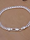 argent de la chaîne de cuivre doux 20cm femmes et bracelet à maillons (argent) (1 pc)