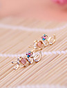 Алмазный любовные письма многоцветной алмазный цветок персика сердца серьги E800