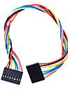 8 PIN Дюпон провода Женский Разъем 200мм Длина 2.54мм Шаг - многоцветный