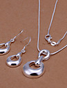 Fashion Silver Plated (Necklace & Earrings) Jewelry Set (Silver)