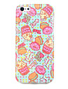 Cartoon Donut & Rose Hips Pattern TPU IMD Case for iphone 5C