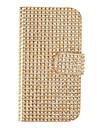 Estilo Carteira PU de couro com fivela magnética e Slot para cartão Shell para Samsung Galaxy S4 I9500/I9505 (Gold)
