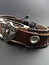 Homme Bracelets en cuir Original Perlé Fait à la main Européen bijoux de fantaisie Mode Cuir Alliage Bijoux Bijoux Pour Quotidien