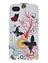 Butterfly and Flower PU Leather Full Bady Case for iPhone 4/4S