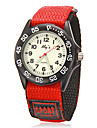 Children's Round Dial Fabric Band Quartz Analog Wrist Watch (Assorted Colors)