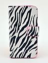Zebra-Stripe Pattern Full Body Leather Tpu Case for iPhone 4/4S