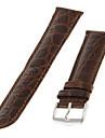 Men's 20mm Alligator Grain Genuine leather Watch Band (Brown)