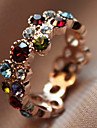 Sweet Women's Multicolor Crystal Band Rings(1 Pc)