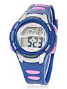 Детская Многофункциональный Круглый циферблат Резиновая лента ЖК-цифровой наручные часы (разных цветов)