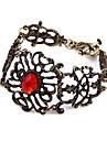 Bijoux Rétro 20.5cm Ruby alliage creux de vigne de fleur Fleur Bracelet européens et américains B335