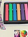6 couleurs Pièces DIY couleur temporaire des cheveux doux pastels de craie
