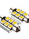 Guirlande Automatique Blanc chaud SMD 5050 3000Feux de position latéraux Feux stop Lampe de portière Lumières pour tableau de bord Lampe