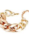 Fashion Lock Twisted Chain & Link Bracelet(Random Color)
