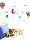 красочный огонь воздушный шар и белое облако шаблон спальня ПВХ бумаги для поделок стены (1 шт)