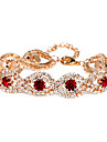 Victoria Czech Crystal Golden Plated Chain Bracelet Jewelry Christmas Gifts