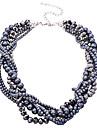 Femme Collier court /Ras-du-cou Collier de perles Cristal Perle Alliage Noir Bijoux Pour Soirée Quotidien