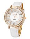 Женская Бриллиант Круглый циферблат PU Группа Кварцевые аналоговые наручные часы (разных цветов)