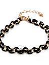 Mode chaîne de roue noir et bracelet de lien (couleur aléatoire)