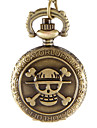 Mulheres Relógio de Bolso Quartzo Lega Banda Vintage Caveira Bronze