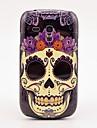 Cas de couverture de motif de fleur de crâne arrière dur pour Samsung Galaxy S3 Mini I8190