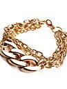 Мода Золотая цепь и браслет Ссылка (случайный цвет)