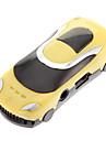 En forme de TF voiture Lecteur MP3 Lecteur de forme de voiture jaune