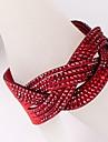 Doze linhas Diamante bracelete vermelho
