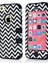 Motif en vagues PC et silicone 3 en 1 de couverture de téléphone de cas de cas en caoutchouc souple 5C Pour IPhone5C