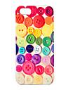 iphone 4/4s를위한 JOYLAND 다채로운 단추 본 단단한 케이스