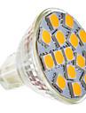 2w gu5.3 (MR16) MR11 LED Spot 15 smd 5050 180-220 lm chaud ac blanc 12 v