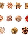 Traditionnelle en bois Intelligence verrouillage jouet chinois (couleurs assorties)