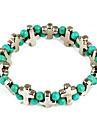 Мода зеленый бисера Крест Сеть & ссылка браслет (случайный цвет)