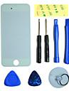 Tela LCD frontal de vidro da lente da peça com a etiqueta de 3M e ferramentas de montagem para o iPhone 5