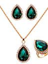 золотая пластина леди ювелирных изделий и др (серьги&ожерелье&кольцо)