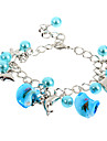 Мода 22см Для Женщин Сплав серебра браслет (синий, розовый, белый) (1 шт)