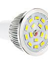 5W GU10 Точечное LED освещение 15 SMD 5730 100-550 lm Тёплый белый Регулируемая AC 220-240 V