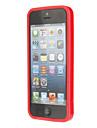 아이폰 5를위한 유행 디자인 플라스틱 및 TPU 풍부한 케이스 (레드)