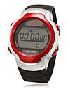 Мужской Наручные часы электронные часы LCD Календарь Секундомер тревога Цифровой Pезина Группа Черный