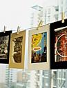 6 pulgadas 10 pack patrón paisaje marco colgante papel fotográfico (negro, blanco, marrón)