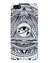 아이폰 5/5S를위한 흑백 삼각형 아이 패턴 PC 하드 케이스
