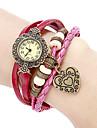 Bracelet Watch Casual Watch Japanese Quartz Genuine Leather Band Flower Bohemian Red Strap Watch