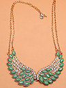 Women's Collar Necklace Crystal Simulated Diamond Alloy Wings / Feather Fashion Jewelry Party Daily 1pc