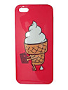 Cartoon Lovely Ice Cream Pattern Back Case for iPhone 5/5S