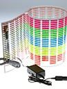 Стикер автомобиля Музыка Ритм светодиодная вспышка света лампы Звук активированного Эквалайзер