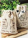 사랑스러운 만화 작은 곰과 deerlet 패턴 저장 가방