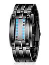 ZGO unisexe cadran noir eau analogique bande métallique Quartz Résistant Sport Wrist Watch