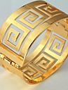 U7® Vintage 60MM Men or Women's 18K Real Gold Plated G Letter Bracelets Bangles Cuff Bangle Christmas Gifts