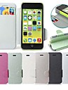 Silk Pattern PU Leather Full Body Case with Card Slot for Apple iPhone 5C (Assorted Colors)