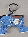 Cães Calças Azul Roupas para Cães Verão Jeans