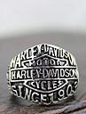 """Кольцо мужское в стиле """"Harley Davidson"""" из сплава под серебро"""
